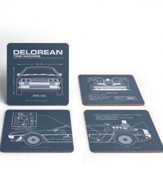 Dessous de Verre Schéma DeLorean - Retour vers le Futur chez Casa Décoration