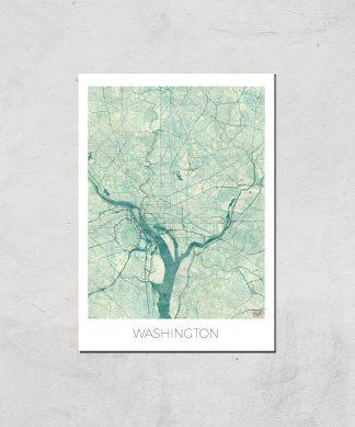 Affiche Carte de Washington (Couleur) - A3 - Print Only chez Casa Décoration