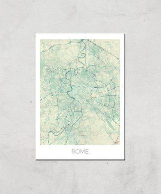 Affiche Carte de Rome (Couleur) - A3 - Print Only chez Casa Décoration
