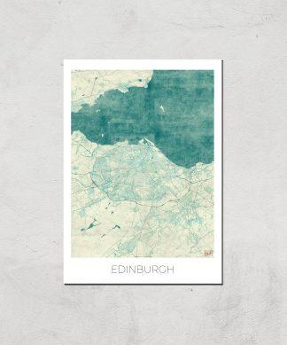 Affiche Carte d'Edimbourg (Couleur) - A4 - Print Only chez Casa Décoration