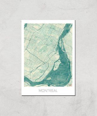 Affiche Carte de Montréal (Couleur) - A4 - Print Only chez Casa Décoration