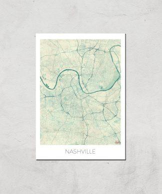 Affiche Carte de Nashville (Couleur) - A3 - Print Only chez Casa Décoration