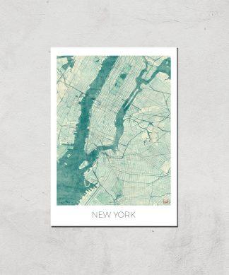 Affiche Carte de New York (Couleur) - A4 - Print Only chez Casa Décoration