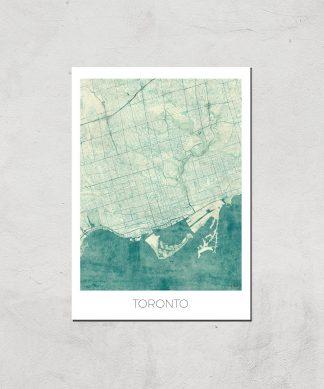 Affiche Carte de Toronto (Couleur) - A4 - Print Only chez Casa Décoration