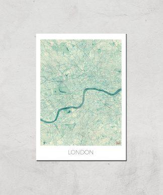 Affiche Carte de Londres (Couleur) - A4 - Print Only chez Casa Décoration