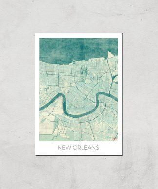 Affiche Carte de Nouvelle Orléans (Couleur) - A4 - Print Only chez Casa Décoration