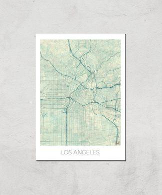 Affiche Carte de Los Angeles (Couleur) - A3 - Print Only chez Casa Décoration