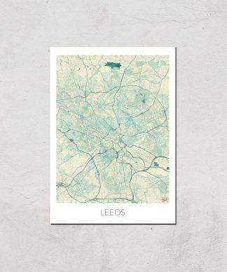 Affiche Carte de Leeds (Couleur) - A4 - Print Only chez Casa Décoration