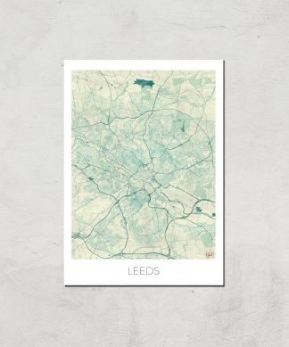 Affiche Carte de Leeds (Couleur) - A3 - Print Only chez Casa Décoration