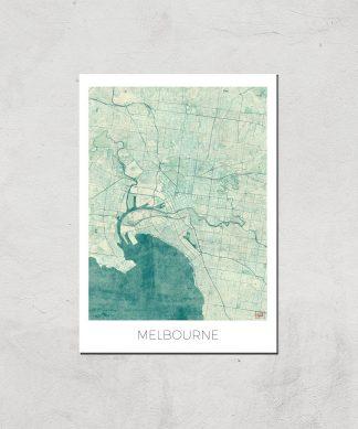 Affiche Carte de Melbourne (Couleur) - A3 - Print Only chez Casa Décoration