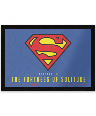 Paillasson Welcome To The Fortress Of Solitude DC Comics chez Casa Décoration