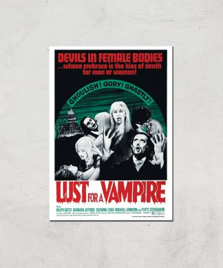 Devils In Female Bodies - Lust For A Vampire Giclee Art Print - A4 - Print Only chez Casa Décoration