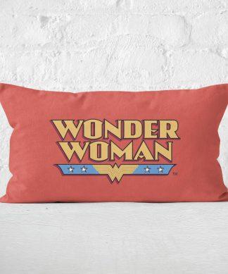DC Cushions Retro Wonder Woman DC 30x50cm Rectangle Cushion Rectangular Cushion - 30x50cm - Eco Friendly chez Casa Décoration
