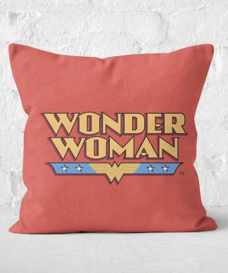 DC Cushions Retro Wonder Woman DC 40x40cm Square Cushion Square Cushion - 50x50cm - Eco Friendly chez Casa Décoration