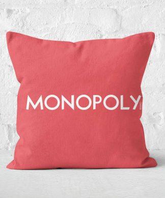 Monopoly Go Square Cushion - 50x50cm - Soft Touch chez Casa Décoration