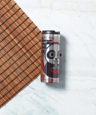 Ramen Panda Floral Stainless Steel Travel Mug - Metallic Finish chez Casa Décoration