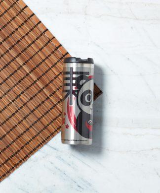 Ramen Panda Stainless Steel Travel Mug - Metallic Finish chez Casa Décoration