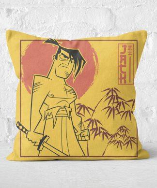 Samurai Jack Jack Vs Aku Square Cushion - 50x50cm - Soft Touch chez Casa Décoration