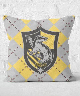 Coussin Harry Potter Hufflepuff (Poufsouffle) Carré - Taille au choix - 50x50cm - Soft Touch chez Casa Décoration