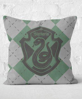 Coussin Harry Potter Slytherin (Serpentard) Carré - Taille au choix - 50x50cm - Soft Touch chez Casa Décoration