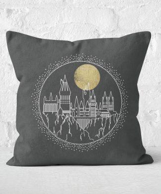 Coussin Harry Potter Poudlard (Hogwarts) Carré - Taille au choix - 50x50cm - Soft Touch chez Casa Décoration