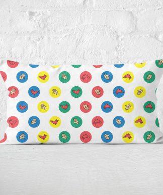 Twister White Rectangular Cushion - 30x50cm - Soft Touch chez Casa Décoration