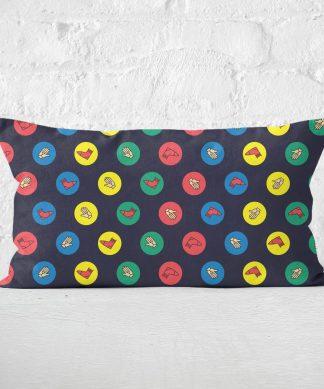 Twister Black Rectangular Cushion - 30x50cm - Soft Touch chez Casa Décoration