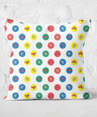 Twister White Square Cushion - 50x50cm - Soft Touch chez Casa Décoration