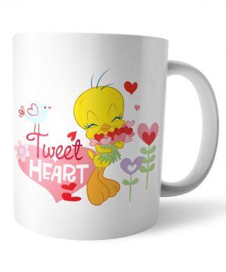 Looney Tunes Tweet Heart Tweety Pie Mug chez Casa Décoration