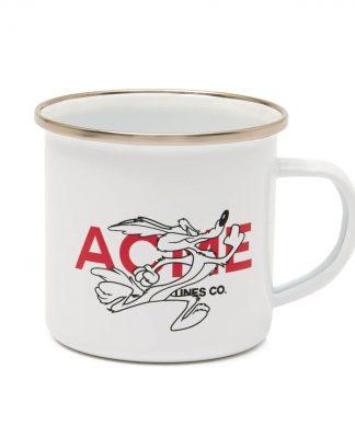 Tasse Looney Tunes ACME Capsule Coyote Enamel - Blanche chez Casa Décoration
