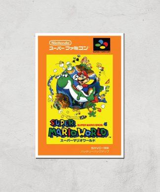Nintendo Super Mario World Retro Cover Art Print - A4 - Print Only chez Casa Décoration