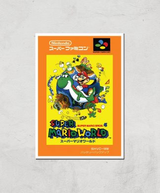 Nintendo Super Mario World Retro Cover Art Print - A3 - Print Only chez Casa Décoration