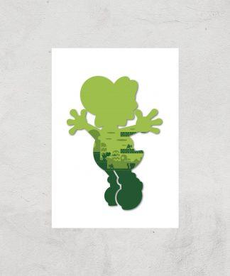 Nintendo Super Mario Yoshi Silhouette Art Print - A4 - Print Only chez Casa Décoration