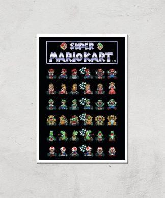 Nintendo Retro Racer Art Print - A4 - Print Only chez Casa Décoration