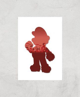 Nintendo Super Mario Silhouette Art Print - A4 - Print Only chez Casa Décoration