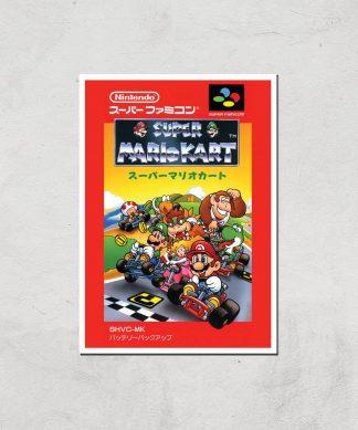 Nintendo Retro Super Mario Kart Cover Art Print - A4 - Print Only chez Casa Décoration