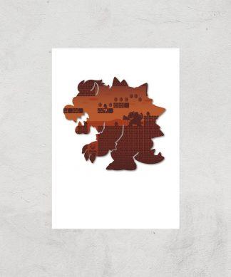 Nintendo Super Mario Bowser Silhouette Art Print - A4 - Print Only chez Casa Décoration