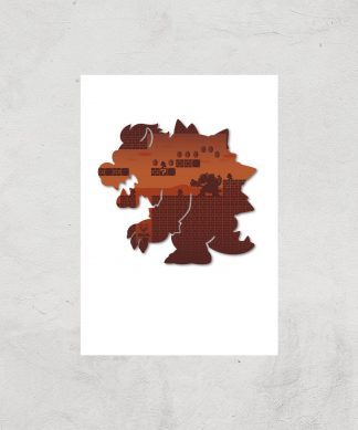 Nintendo Super Mario Bowser Silhouette Art Print - A3 - Print Only chez Casa Décoration