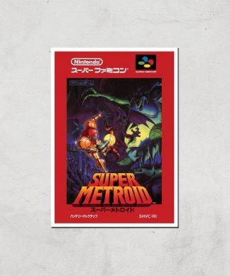 Nintendo Retro Super Metroid Cover Art Print - A3 - Print Only chez Casa Décoration