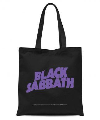 Black Sabbath Tote Bag - Black chez Casa Décoration