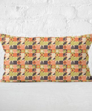 Orange Jurassic Park Rectangular Cushion 30x50 - 30x50cm - Soft Touch chez Casa Décoration