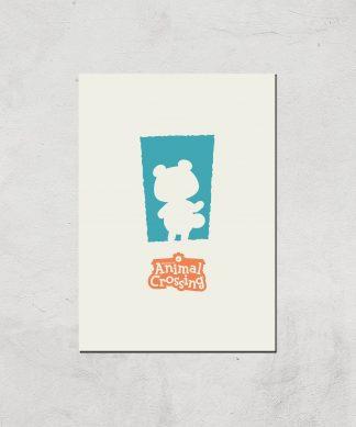 Nintendo Animal Crossing Blue Door Art Print - A4 - Print Only chez Casa Décoration