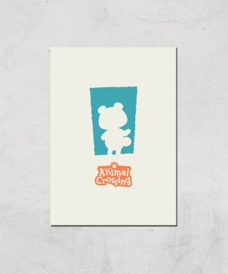 Nintendo Animal Crossing Blue Door Art Print - A3 - Print Only chez Casa Décoration