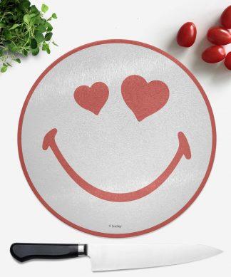 Planche à découper Ronde Love Heart Smiley chez Casa Décoration