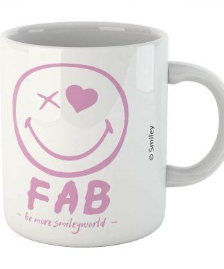 Fab Pink Smiley Mug chez Casa Décoration