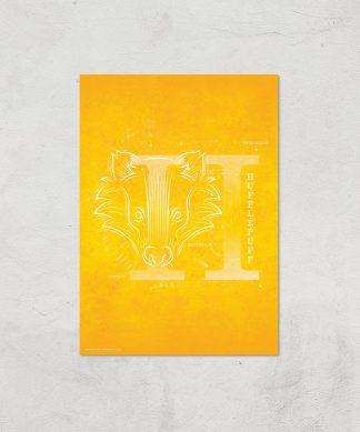 Harry Potter Hufflepuff Giclee Art Print - A4 - Print Only chez Casa Décoration