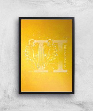 Harry Potter Hufflepuff Giclee Art Print - A4 - Black Frame chez Casa Décoration