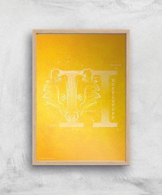 Harry Potter Hufflepuff Giclee Art Print - A2 - Wooden Frame chez Casa Décoration