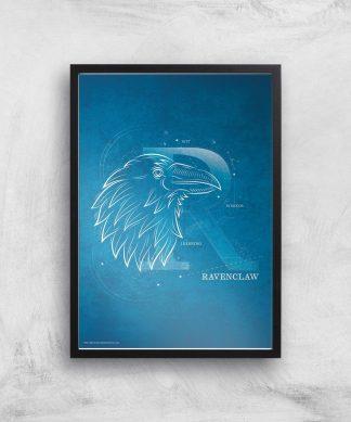 Harry Potter Ravenclaw Giclee Art Print - A4 - Black Frame chez Casa Décoration