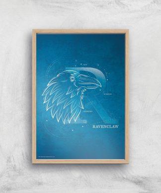 Harry Potter Ravenclaw Giclee Art Print - A3 - Wooden Frame chez Casa Décoration